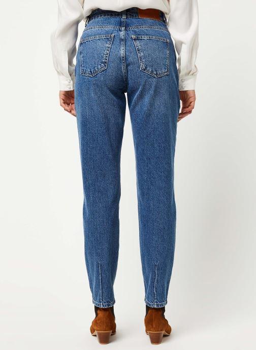 Vêtements Noisy May Jeans Solid ISABEL Bleu vue portées chaussures