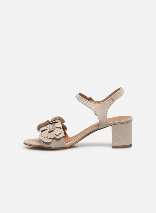 Sandales et nu-pieds Georgia Rose Jiflora Beige vue face