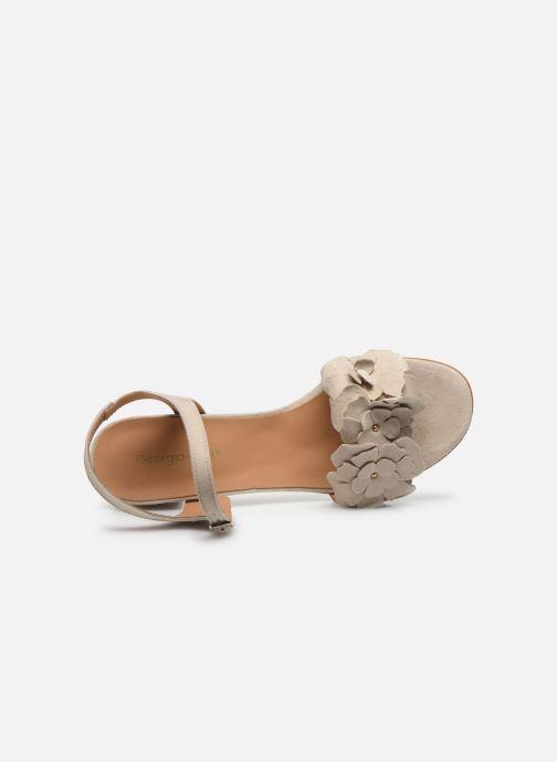 Sandales et nu-pieds Georgia Rose Jiflora Beige vue gauche
