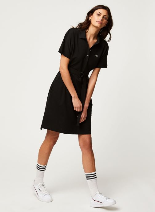 Vêtements Lacoste Robe EF6182-00 Noir vue bas / vue portée sac