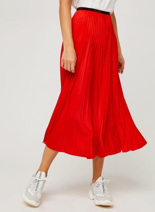 Vêtements Lacoste Jupe JF5455-00 Rouge vue détail/paire