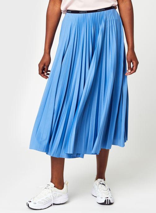 Vêtements Lacoste Jupe JF5455-00 Bleu vue détail/paire