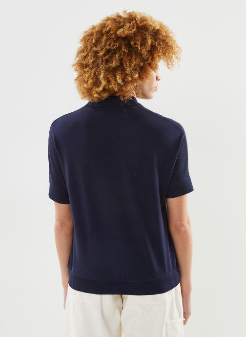 Vêtements Lacoste Polo PF0504-00 Bleu vue portées chaussures