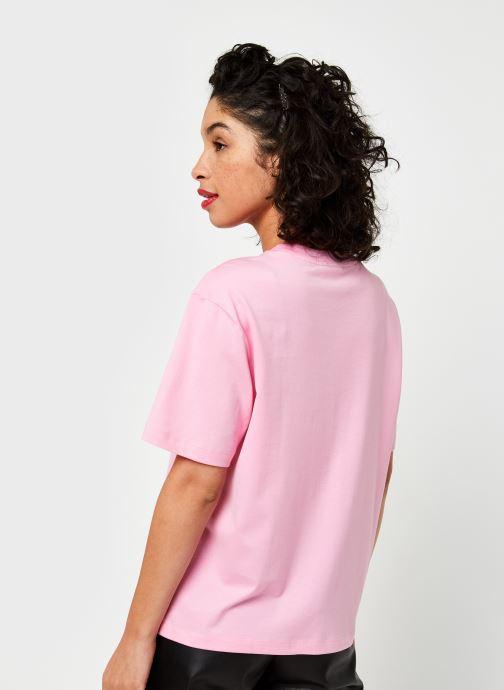 Vêtements Lacoste T-shirt TF5441-00 Rose vue portées chaussures