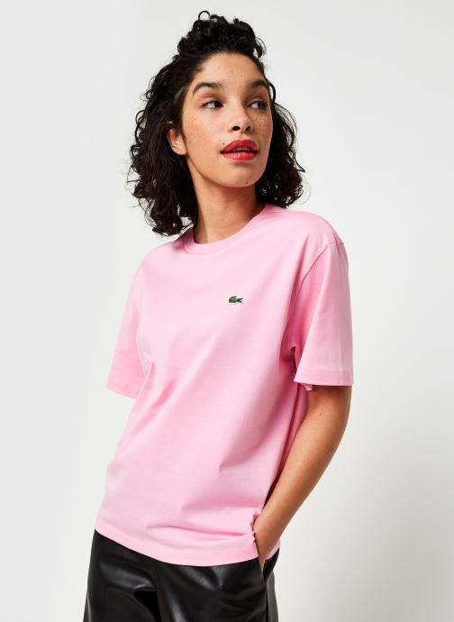 Vêtements Lacoste T-shirt TF5441-00 Rose vue droite