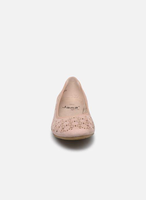 Ballerines Jana shoes JOAN Rose vue portées chaussures