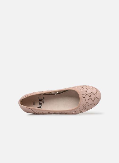 Ballerines Jana shoes JOAN Rose vue gauche