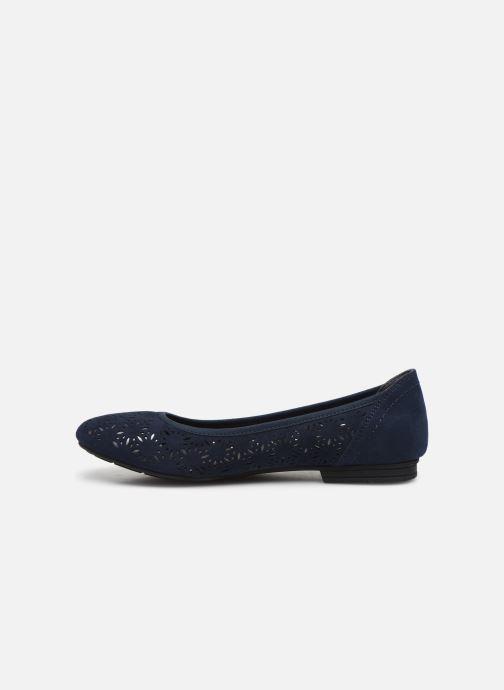 Ballerinas Jana shoes JOAN blau ansicht von vorne