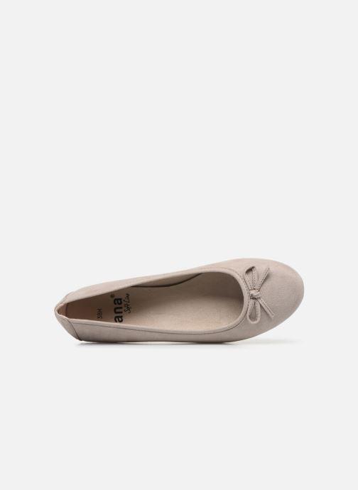 Bailarinas Jana shoes JILLI Gris vista lateral izquierda