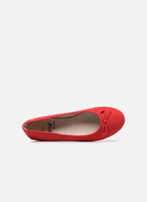 Ballerines Jana shoes JILLI Rouge vue gauche
