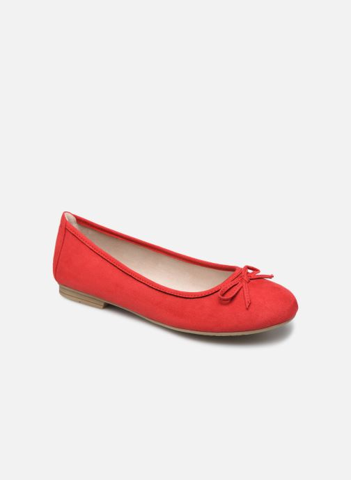 Ballerines Jana shoes JILLI Rouge vue détail/paire