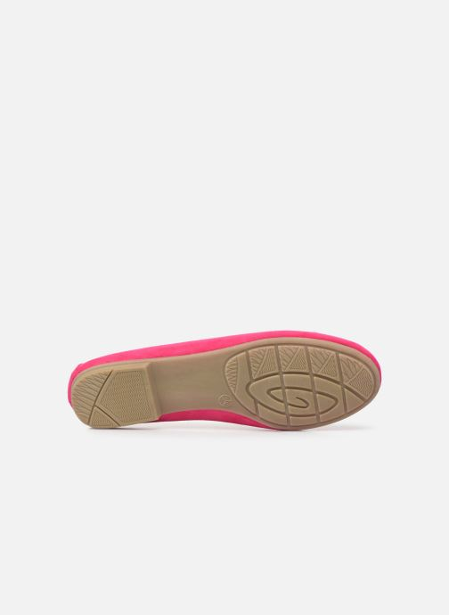 Ballet pumps Jana shoes JILLI Pink view from above