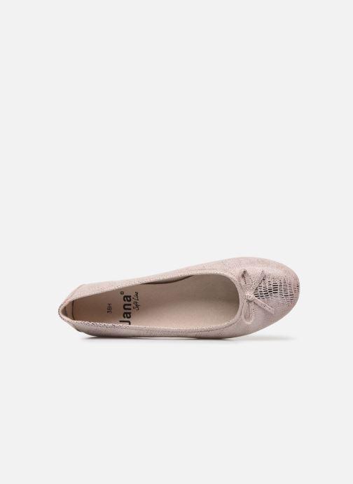 Ballerines Jana shoes JILLI Rose vue gauche
