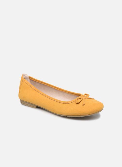 Ballerines Jana shoes JILLI Jaune vue détail/paire
