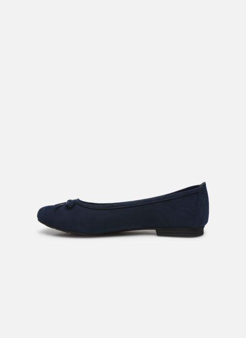 Ballerinas Jana shoes JILLI blau ansicht von vorne
