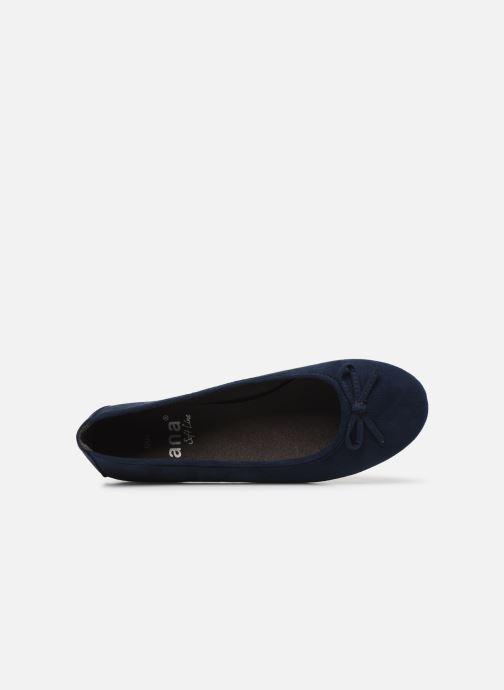 Ballerines Jana shoes JILLI Bleu vue gauche