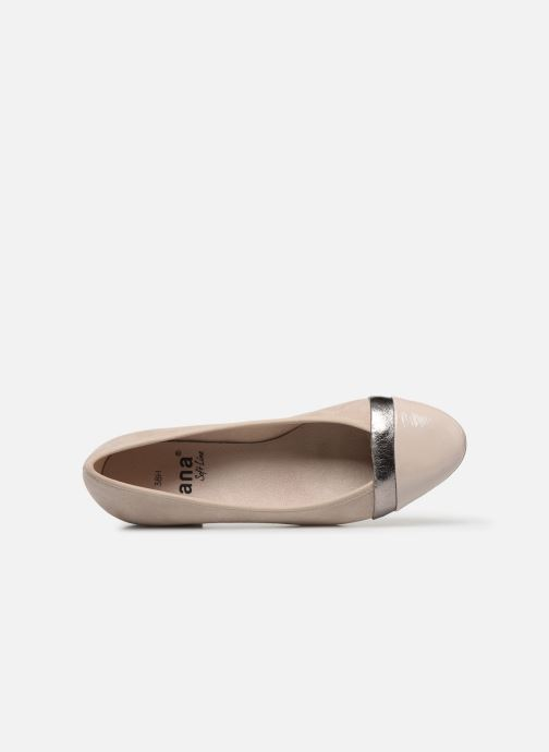 Ballerines Jana shoes JUNE Beige vue gauche