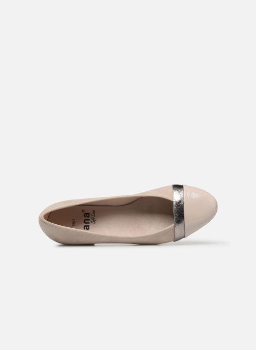 Ballerinas Jana shoes JUNE beige ansicht von links