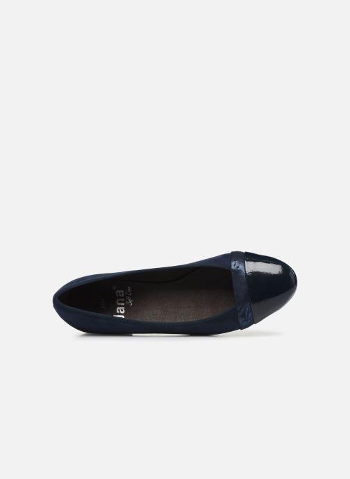 Ballerines Jana shoes JUNE Bleu vue gauche
