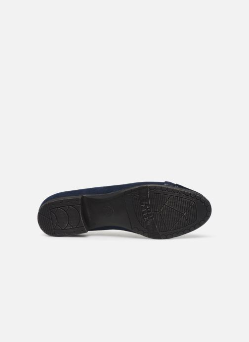 Ballerines Jana shoes JUNE Bleu vue haut