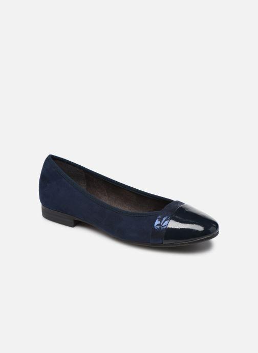 Ballerines Jana shoes JUNE Bleu vue détail/paire