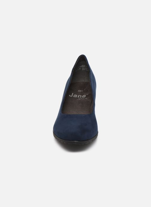 High heels Jana shoes JAYA Blue model view