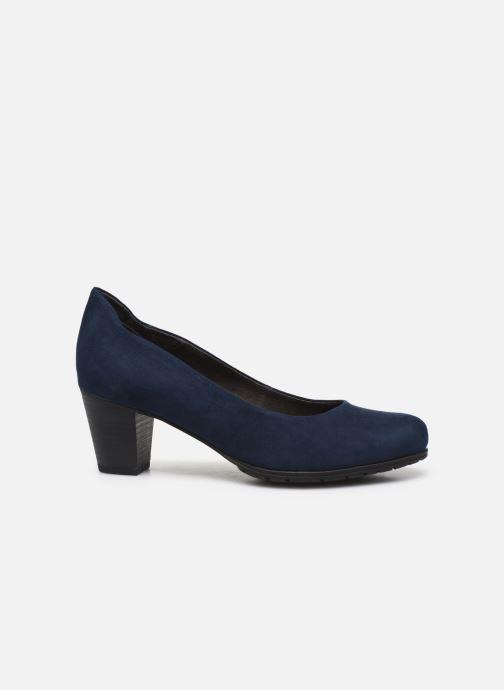 High heels Jana shoes JAYA Blue back view