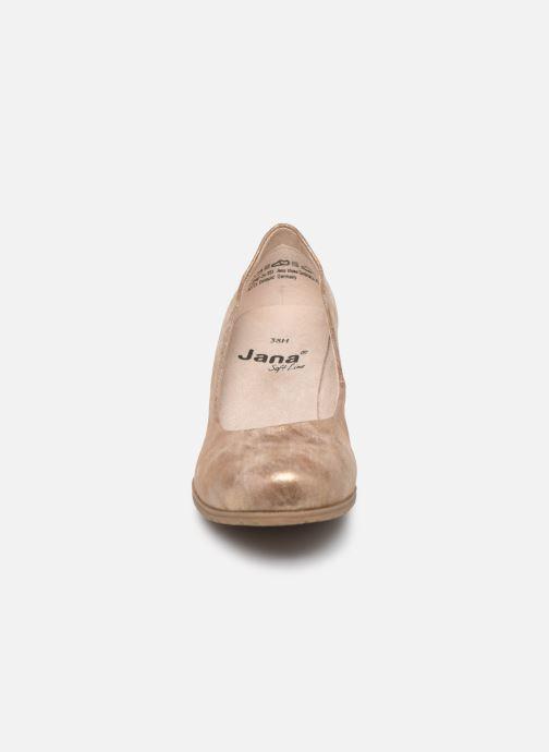 High heels Jana shoes JAYA Bronze and Gold model view
