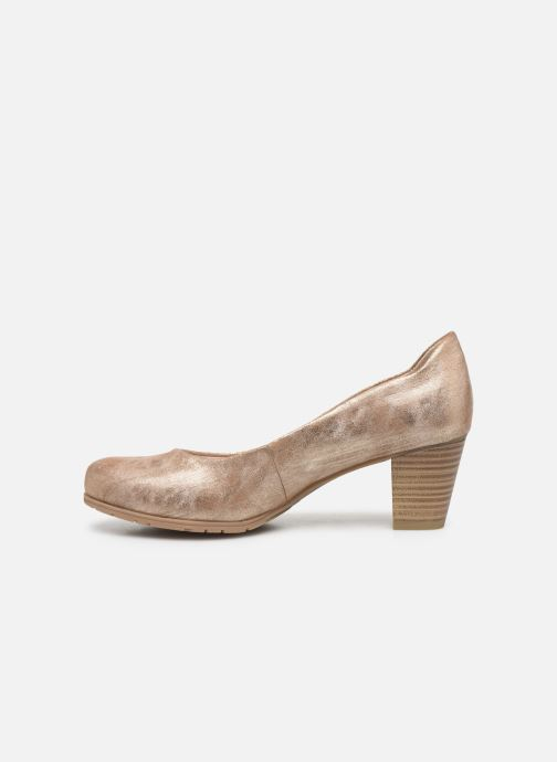 High heels Jana shoes JAYA Bronze and Gold front view