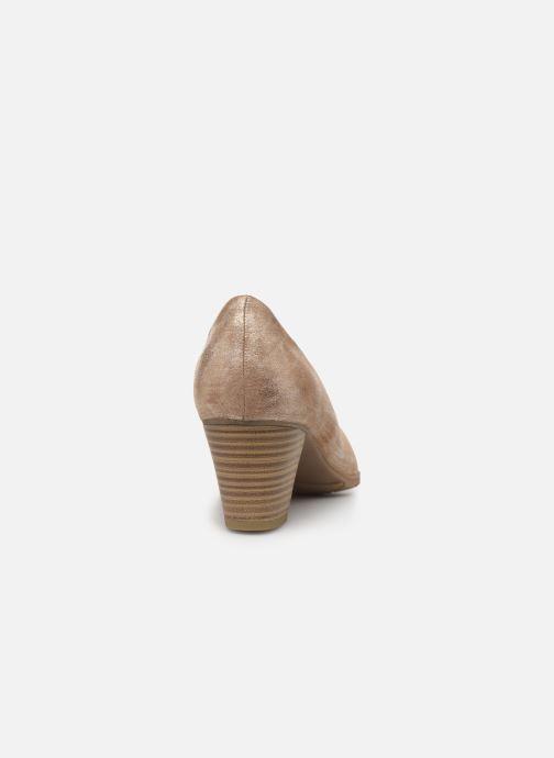 Escarpins Jana shoes JAYA Or et bronze vue droite