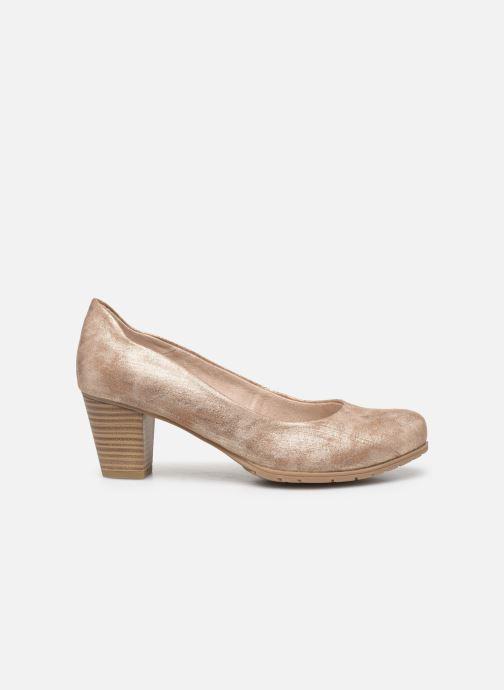 High heels Jana shoes JAYA Bronze and Gold back view