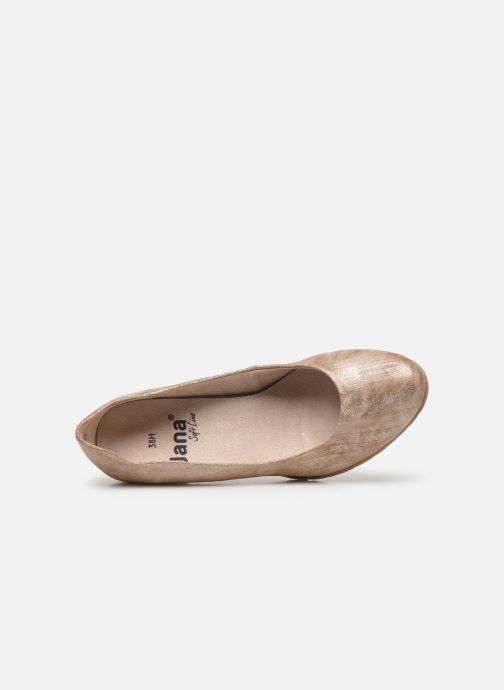 Zapatos de tacón Jana shoes JAYA Oro y bronce vista lateral izquierda