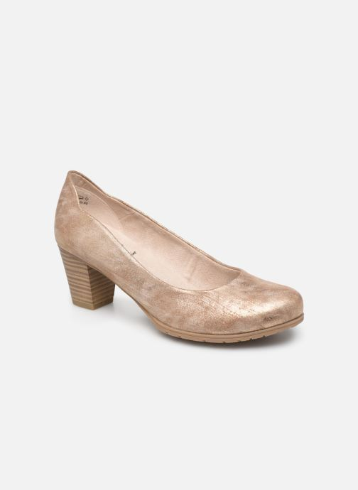 High heels Jana shoes JAYA Bronze and Gold detailed view/ Pair view