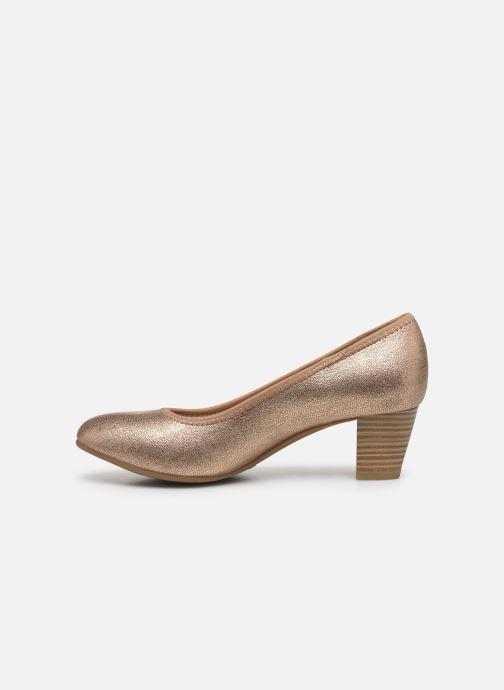Escarpins Jana shoes JAYN Or et bronze vue face