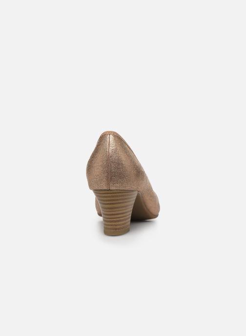 Escarpins Jana shoes JAYN Or et bronze vue droite