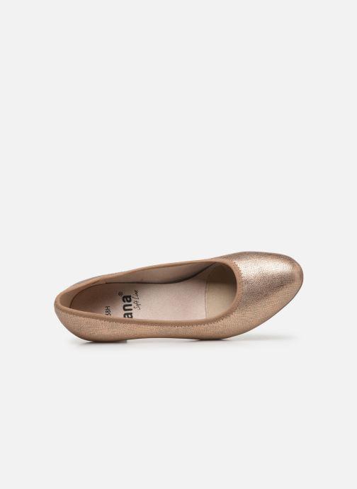 Escarpins Jana shoes JAYN Or et bronze vue gauche