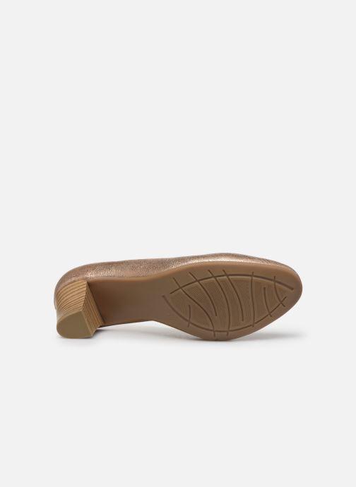 Escarpins Jana shoes JAYN Or et bronze vue haut
