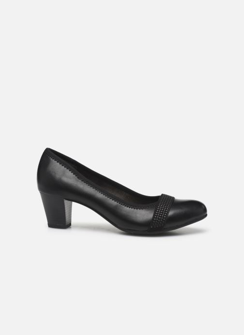 High heels Jana shoes JAZA Black back view