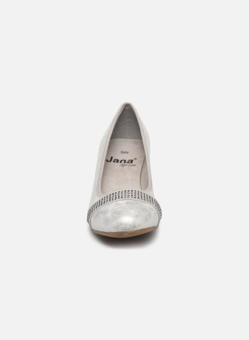 Pumps Jana shoes JAZA silber schuhe getragen
