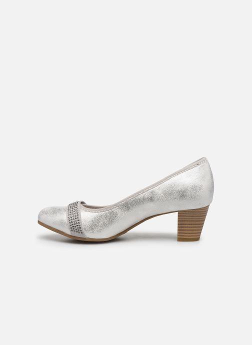 Pumps Jana shoes JAZA silber ansicht von vorne