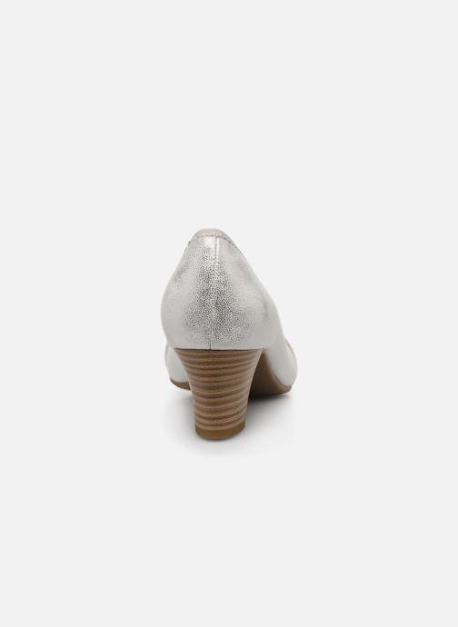Pumps Jana shoes JAZA silber ansicht von rechts