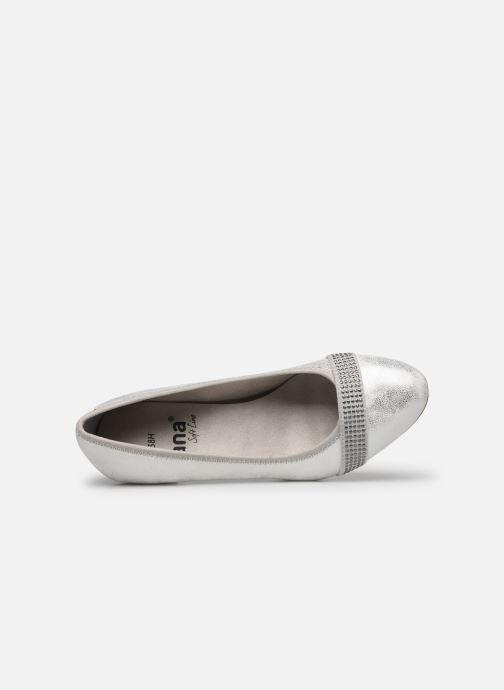 Pumps Jana shoes JAZA silber ansicht von links