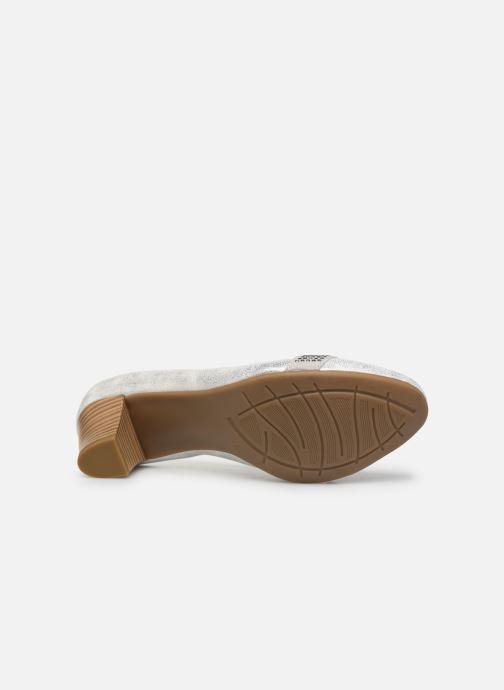Pumps Jana shoes JAZA silber ansicht von oben