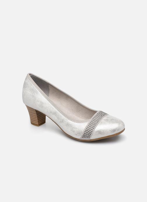 Escarpins Jana shoes JAZA Argent vue détail/paire