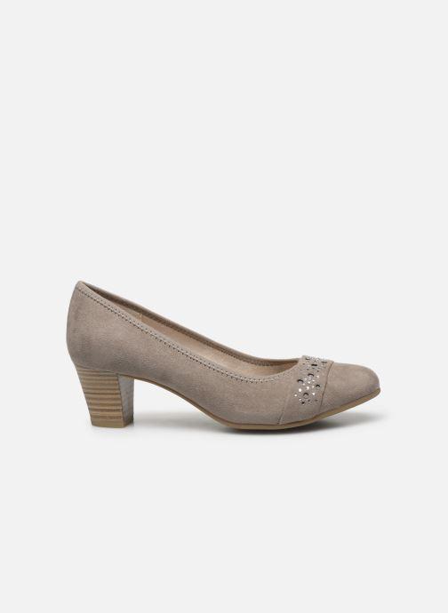 High heels Jana shoes JELENA Beige back view