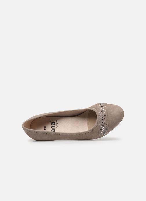 Escarpins Jana shoes JELENA Beige vue gauche