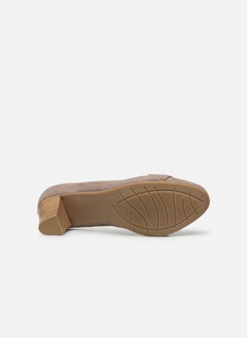 Escarpins Jana shoes JELENA Beige vue haut