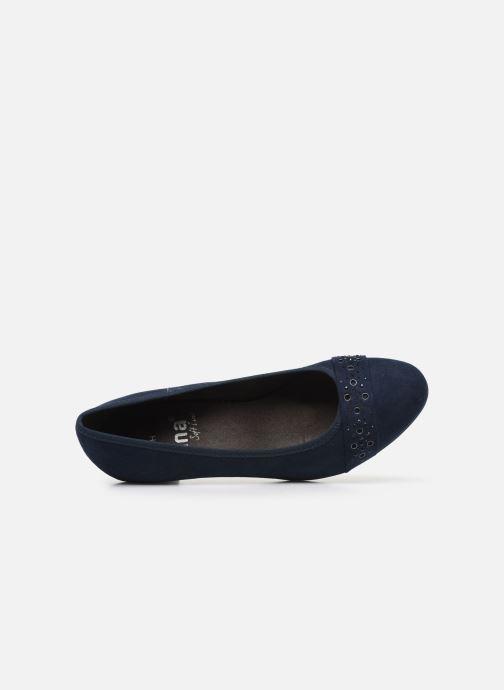 Zapatos de tacón Jana shoes JELENA Azul vista lateral izquierda