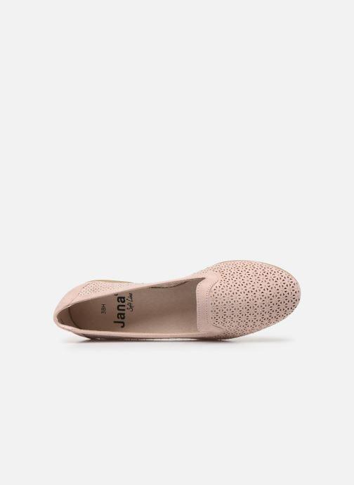 Mocasines Jana shoes JEHAN Rosa vista lateral izquierda