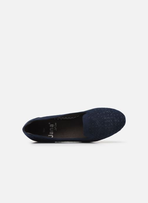 Mocassins Jana shoes JEHAN Bleu vue gauche